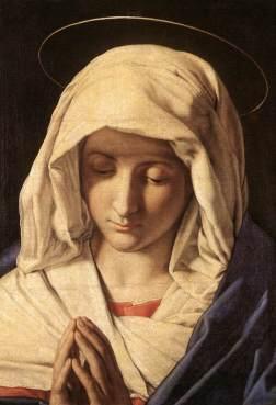 Madonna in Prayer, Accademia Carrara, Bergamo 1600's